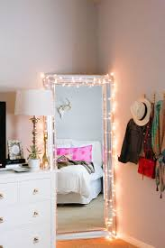 bedroom with string lights teen vogue