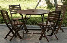Amazoncom  5pc Outdoor Wood Folding Patio Dining Set  Outdoor Folding Garden Table Sets