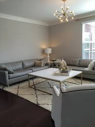 alpaca paint colorGray Living Room walls with Gray Leather Sofas  Contemporary