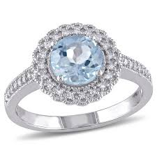 blue topaz and 1 7 carat t w zoomed image