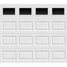 clopay clic collection 8 ft x 7 ft non insulated white garage door