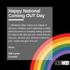 Happy National Coming OUT Day - The OUT Foundation