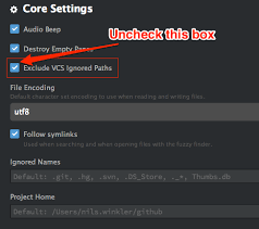 Unable to search inside the vendor/ directory in atom - Stack Overflow