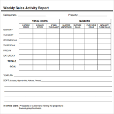 Sales Weekly Report Format Magdalene Project Org