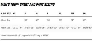 511 Tdu Pants Size Chart Pre Order Eta December 2019 5 11 Tactical Tdu Pants Multicam Size Medium