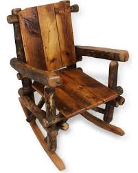wooden rocking chair. Simple Rocking Wooden Rocking Chair Wood Furniture Rustic Chairs Reclaimed  Cabin Decor Log For G