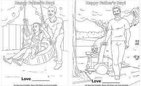 father s day coloring pages set 1