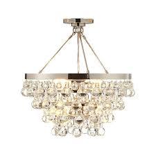 lure polished nickel chandelier