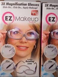 ez makeup 3x magnifying gles rotating len gl led makeup tool as seen on tv