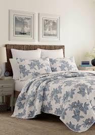tommy bahama villa verona quilt blue white uni bed bath bedding