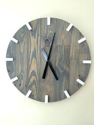 extra large wall clock large gray modern wood clock pallet wood clock reclaimed wood clock large extra large wall clock