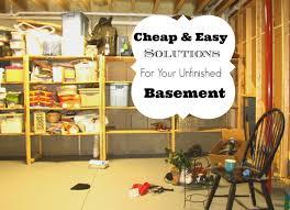 Fascinating Unfinished Basement Storage Ideas Unfinished Basement