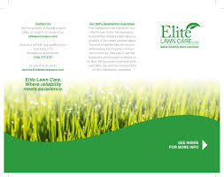 Lawn Care Brochure Elite Lawn Care Brochure 6 1 Abundant Marketing