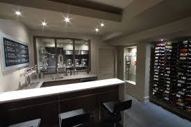Contemporary Basement Home Theater Bar Brewery Modernbasement Intended Beautiful Design