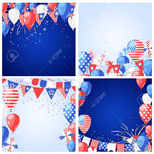 set of usa holiday vector backgrounds and frames 4 of july usa independence day greeting