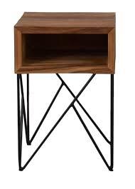 crate barrel dixon wood side table