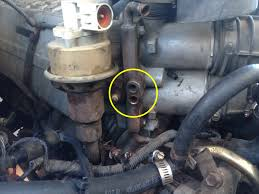 coolant leak from throttle body plug ford f150 forum community also to mention in quick way to get home i didn t have my tools so i used sharpie cut into tube bypassed the throttle body by removing the upper and