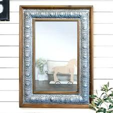white wood framed mirror distressed wood wall mirror rustic wood framed mirror distressed white wood frame