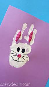 bunny handprint craft