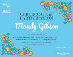 Certificate Of Participation Templates Certificate Of Participation