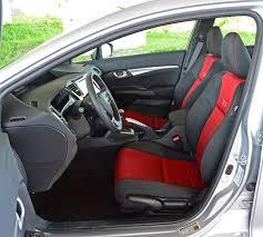 2016 honda civic si sedan front seats