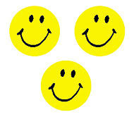 Yellow Smiley Faces Motivational Reward Chart Stickers