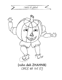 Small Picture Halloween Coloring Page PDF The Magical Kingdom of Dance