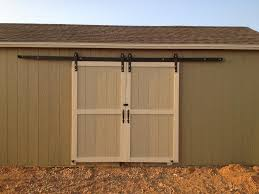 double exterior sliding barn doors