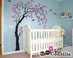 nursery tree wall decals willow decor figurines hallmark s rustic for