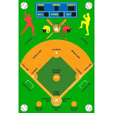 full size of new york yankees area rug fun time baseball field multi colored 39 in