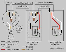 3 way switch wiring electrical 101 Comon Single Pole Switch Wiring Diagram Wall Switch Wiring Diagram