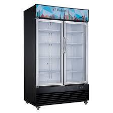 commercial glass swing 2 door merchandiser refrigerator