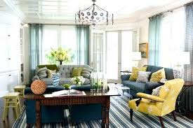 blue yellow gray living room gray