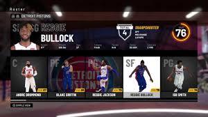 NBA 2K19 - Detroit Pistons Roster - All ...