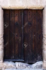 Antike Fensterläden Aus Holz Vorderansicht Hautnah Lizenzfreie