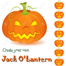 Design Your Own Pumpkin Halloween Assembly Kit Create Your Own Jack Olantern On White