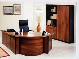 Architectures:Modern Home Office Design With Black And White Desk Executive  Built In E