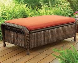 outdoor wicker storage coffee table ottoman shoe footstool deck box bench patio