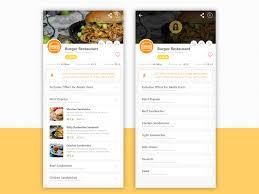 restaurant menu design app restaurant menu details open close by mohamed saad on dribbble