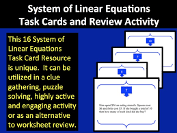 equations task cards and review activity linear system tc 1