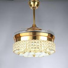 retractable ceiling fan modern led luxury inch invisible retractable crystal ceiling fans with lights bedroom folding retractable ceiling fan