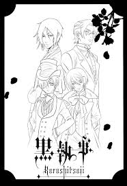 black butler coloring pages awesome 36 best coloring images on of black butler coloring pages