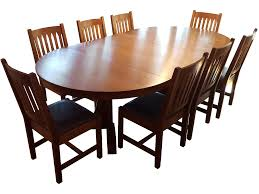 mission style stickley oak dining set set of 9 chairish stickley dining room table