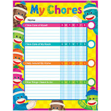 Sock Monkeys Success Charts Chore Charts