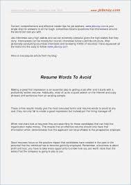 Resume Words To Use Words Not to Use On A Resume globishme 68