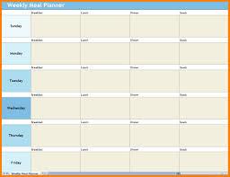 Excel Weekly Meal Planner 10 Excel Weekly Meal Planner Gospel Connoisseur