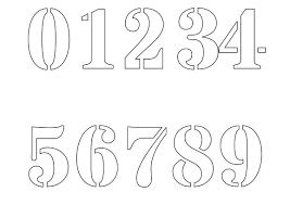 Number Stencils Shop With 1 2 Half To 12 Inch Stencils
