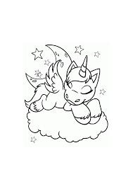 Neopets Paardje Slaapt Op Een Wolk Neopets Kleurplaten