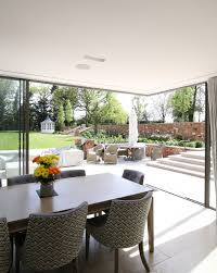 a structural glass roof was also installed to maximise the natural light intake into the extension a ceramic frit pattern has been incorporated to provide