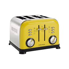 Retro Toasters morphy richards 4slice accents toaster yellow amazoncouk 6810 by uwakikaiketsu.us